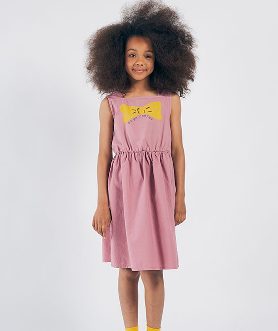 Bow Woven Dress (Kid) #01121