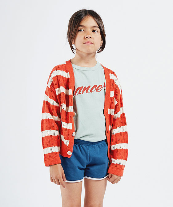 Striped Knitted Cardigan (Kid) #01142