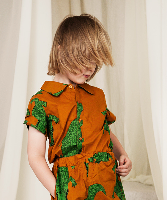 Crocco SS Shirt - Brown ★ONLY 2-3Y★