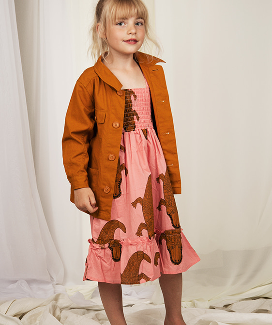 Crocco Smock Dress - Pink