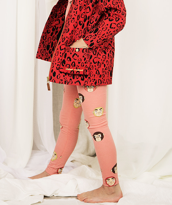 Monkeys Aop Leggings - Pink