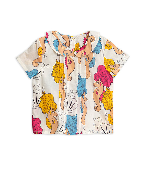 Seahorse Pleat Blouse - Off White ★ONLY 6Y★