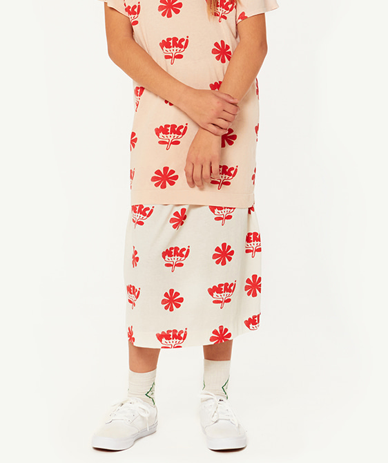 Ladybug Kids Skirt - White Flowers ★ONLY 8Y★