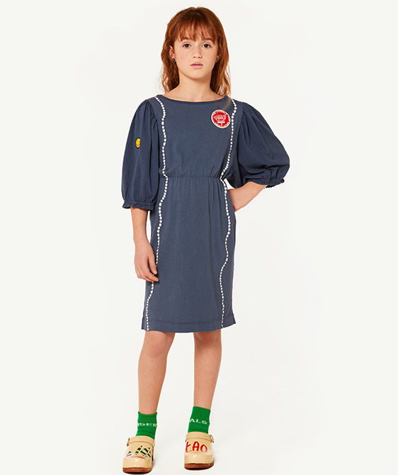 Swallow Kids Dress - Blue Shells