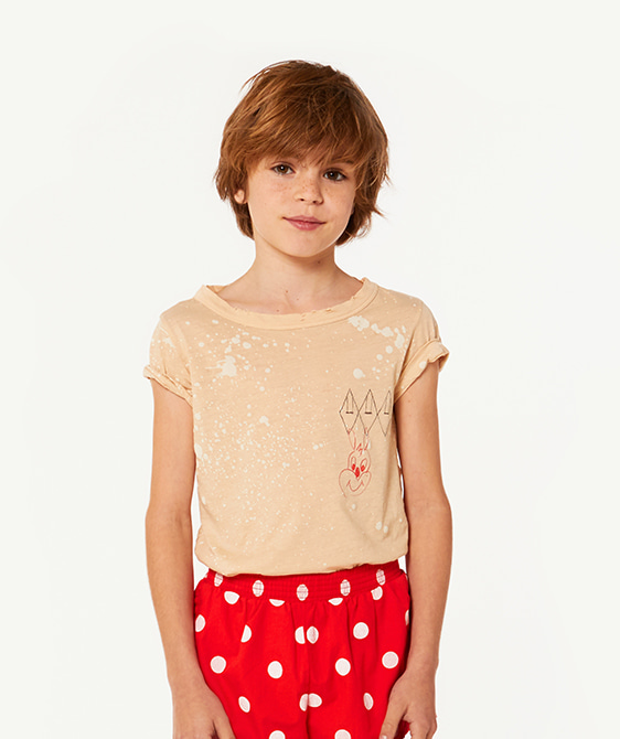 Hippo Kids T-Shirt - Brown Splashes ★ONLY 10Y★