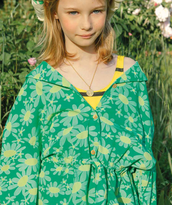 Marmot Kids Shirt - Green Daisies