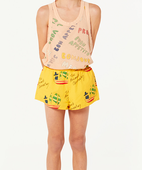 Puppy Kids Swimsuit - Yellow Ships