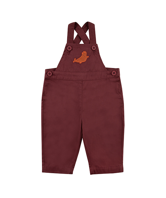 Seal Dungaree - Aubergine