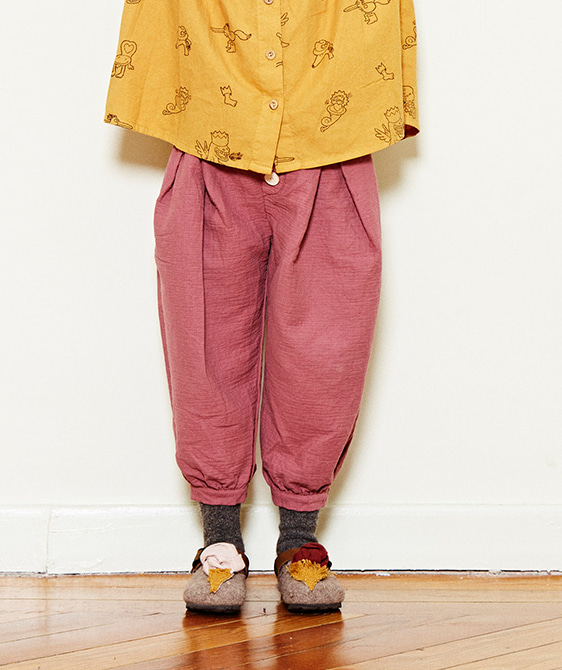 Baggy Trousers  - Plum