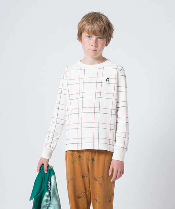 Lines Long Sleeve T-Shirt #271 ★ONLY 6-7Y★