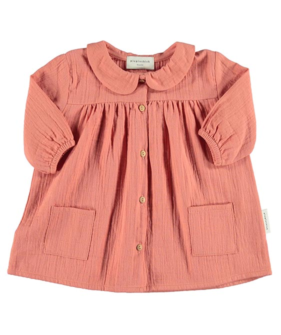 Baby Dress Peter Pan - Coral
