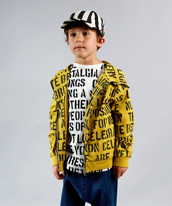 Pedro Yellow Alphabet Soup Cardigan