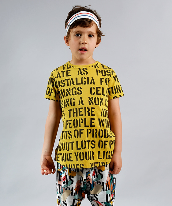 Sebastiao Yellow Alphabet Soup T-Shirts ★ONLY 2Y★