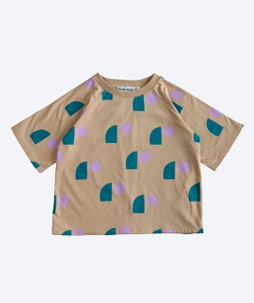 Oversized Tee - Tan Sail Print_MS031