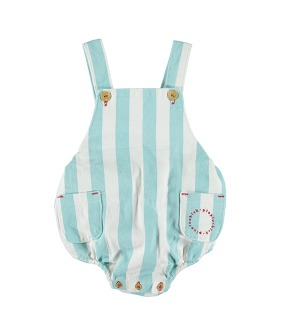 Baby Romper - Light Blue Stripes Serge ★ONLY 24M★