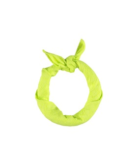 Bandana - Lime Textured Cotton
