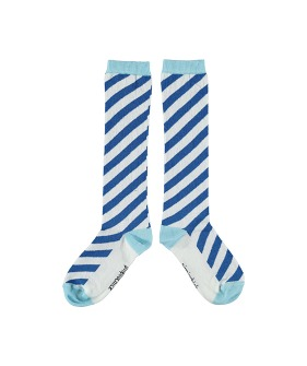 Socks - Blue Diagonal Stripes