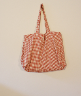 Vichy Shopping Bag - Sunshet