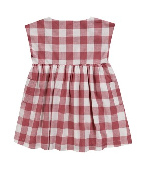 Verity Dress - Textured Gingham In Mulberry
