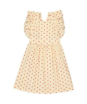 Laura Dress - Dots Red ★ONLY 4Y★