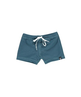 Ocean Ribbed swimshort - Pacific