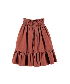 F02-Skirt Ruffle - Engraved  Terracotta ★ONLY 8Y★