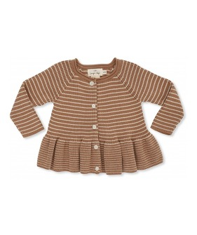 Meo Frill Cardigan  - Sahara/Rice ★ONLY 3-4Y★