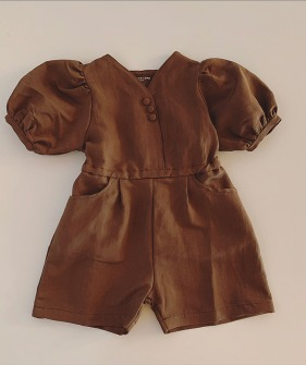 Girl Jumpsuit - Brown ◆5월말 배송예정◆