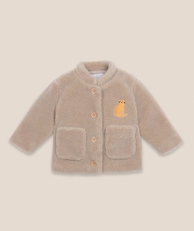 Cat Patch Sheepskin Jacket (Baby) #00099 ★ONLY 18-24M★