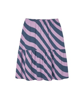 MS082 Frill Skirt - Lupine Psychedelic Stripe