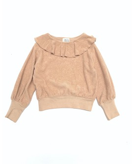 Volant Terry Sweater #20232 - Rose Beige