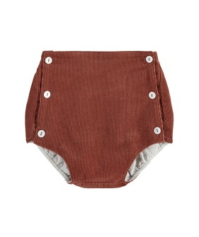 Folkstone Button Front Bloomers - Clay Velvet ★ONLY 3-4Y★