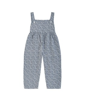 Margo Dungarees - Blue Floral Brushed Cotton Twill ★ONLY 3-4Y★