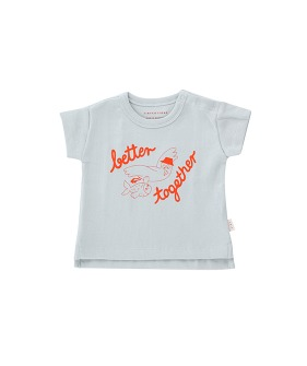 Better Together Baby Tee - Pale Grey/Red ★ONLY 24M★