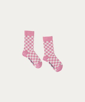 Socks (TC-AW20-64) - Pink Checked ★ONLY 3/4Y★