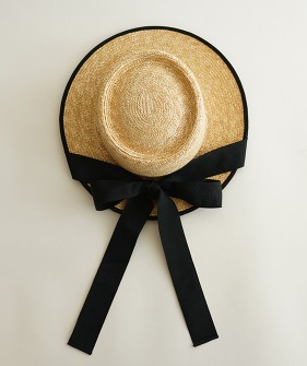 Ribbon-Detail Straw Hat