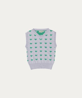 Knit Vest (TC-SS21-28) - Heart Knitted