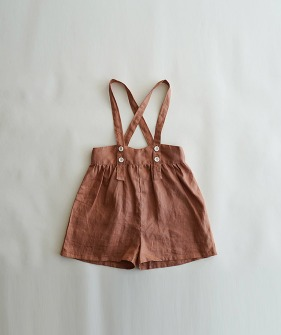 Suspender Shorts - Brick Red ★ONLY 110★