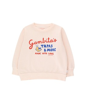 ◆2DROP◆ Gambitas Sweatshirt - Light Cream/Red