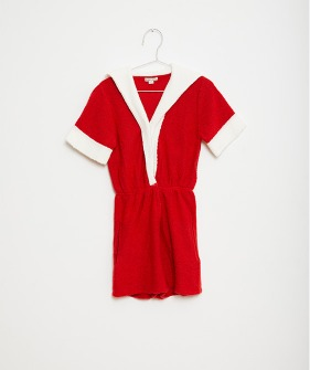 Red Sailor Playsuit - Red #FKS21-006
