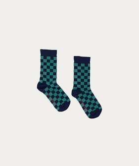 Socks (TC-AW20-65) - Green Checked ★ONLY 3/4Y★