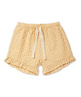 Acacia Shorts - Yellow Check