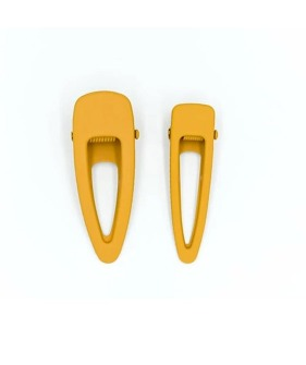Matte Clips (Set Of 2) - Golden