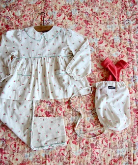 Girl pyjama Set - Small Flower #S21PYWF