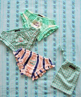 Girl Panty pack (3pc) - Check/Stripe  #S21PANTPK