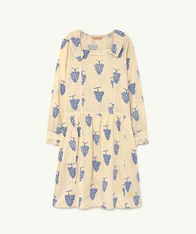 Tortoise Kids Dress - White Grapes  (F21130)