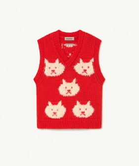 Arty Bat Kids Vest - Red (F21086)