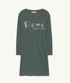 Crab Kids Dress - Deep Green Roma  (F21055)