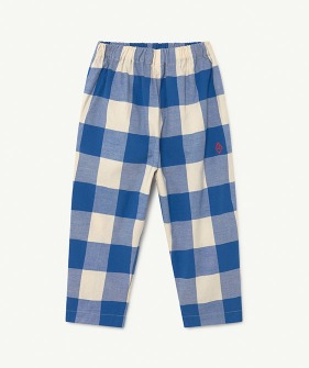 Elephant Kids Trousers - Blue Vichy Logo  (F21128)