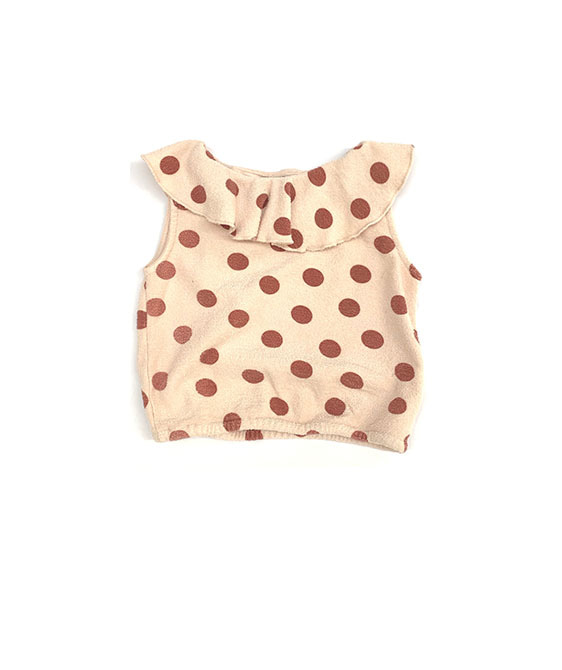 Terry Top (444) - Brown Dots